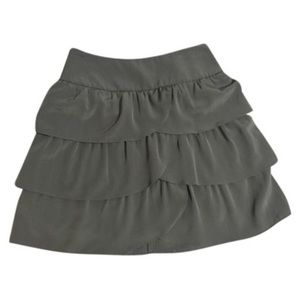 INC olive tiered skirt 2P