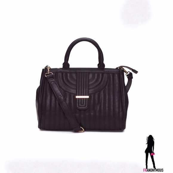Emperia Handbags - Black Satchel with Strap