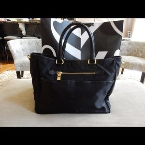 Black Prada Nylon and Leather tote shoulder bag