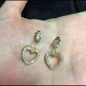 Jewelry - ❤️Heart Studs with Open Heart Double Earrings ❤️