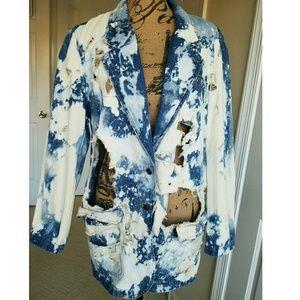 🚫SOLD🚫Destroyed Vintage Denim Jacket