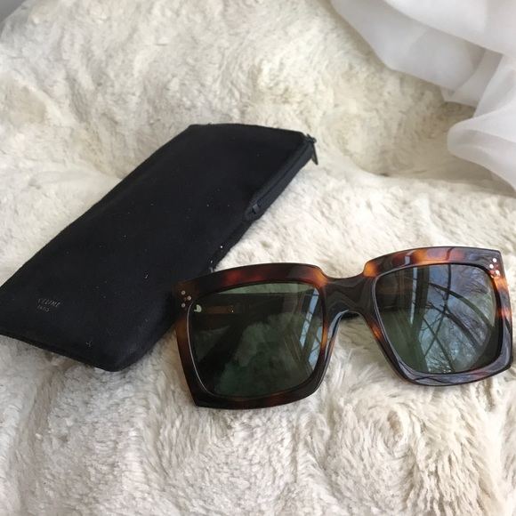 3a47bb3ee32 Celine Accessories - Celine Tortoise Shell Sunglasses