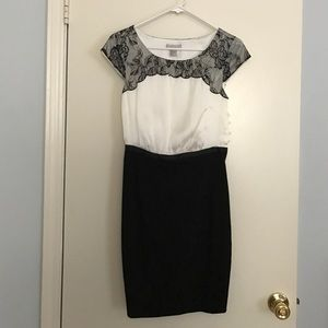 White and Black size 4 Dress