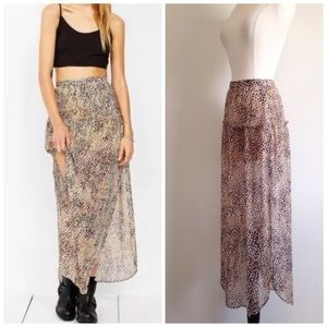 Urban Outfitters Dresses & Skirts - ECOTE DOUBLE SLIT HIGHWAIST SKIRT URBAN OUTFITTERS