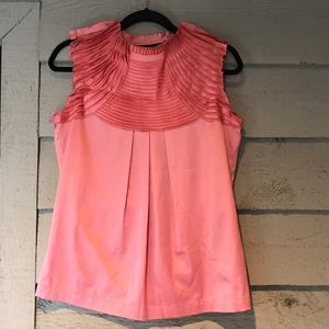 twelve by twelve  Tops - Twelve by Twelve Coral Pleated Blouse Size Small