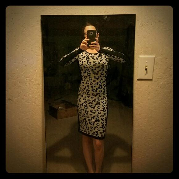 Dresses - *Leopard Body Con Sweater Dress!*