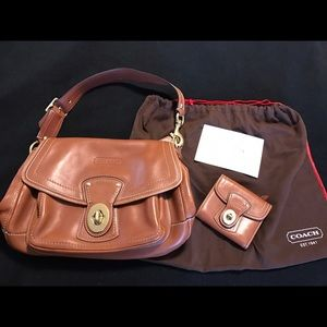 Coach Handbags - Coach saddle leather bag