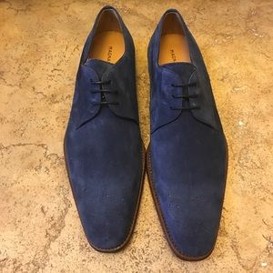 Magnanni Other - Magnanni Navy Suede Oxfords