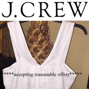 J. Crew Tops - J Crew Linen Tank Eyelet Straps
