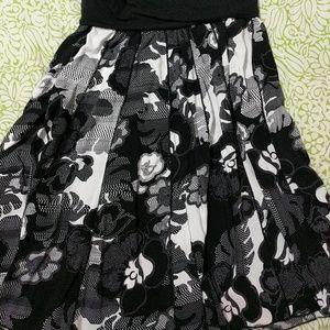 Lapis Dresses & Skirts - Lapis swing skirt, black and white
