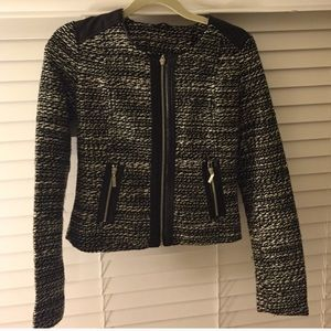 ALLOY Jackets & Blazers - Tweed jacket with faux leather trim