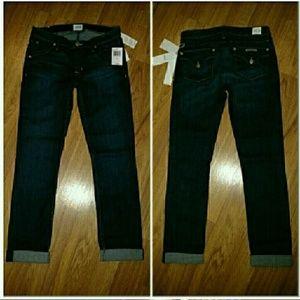 Hudson Jeans Denim - Hudson Bacara Straight Cuffed Crop Jeans 25