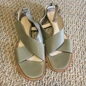 Jil Sander Shoes - Beautiful Muted Green Leather Sandals