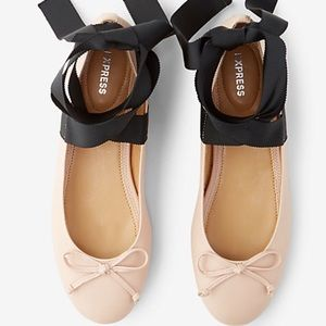 Express Shoes - Express Lace Up Ballet Flat