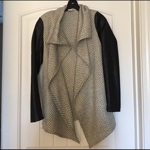 Nordstrom Faux leather sleeved jacket