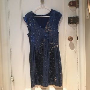 French connection reversible sequin dress