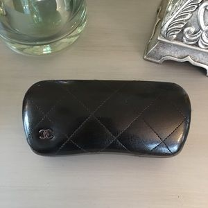 CHANEL Accessories - 🛍 Chanel Black Quilted Leather Hard Sunglass Case