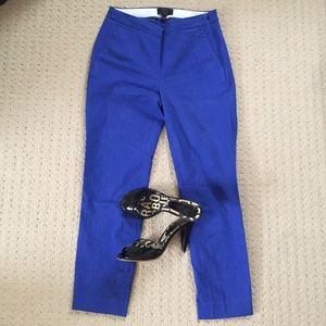 Royal Blue J.Crew Cropped Cotton Pants