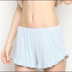 NWT Brandy Melville Baby Blue Vodi Shorts OS
