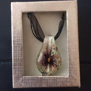 Free People Jewelry - NIB glass pendant
