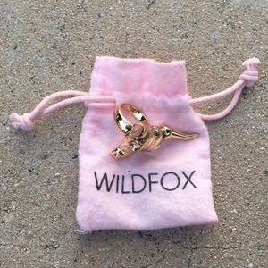 Wildfox Jewelry - Wildfox Gold Cow Skull Ring
