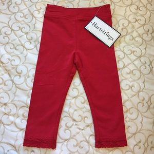 Hartstrings Other - ❤️NWT Hartstrings Toddler Knit Legging w/ Lace