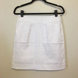Banana Republic White Skirt