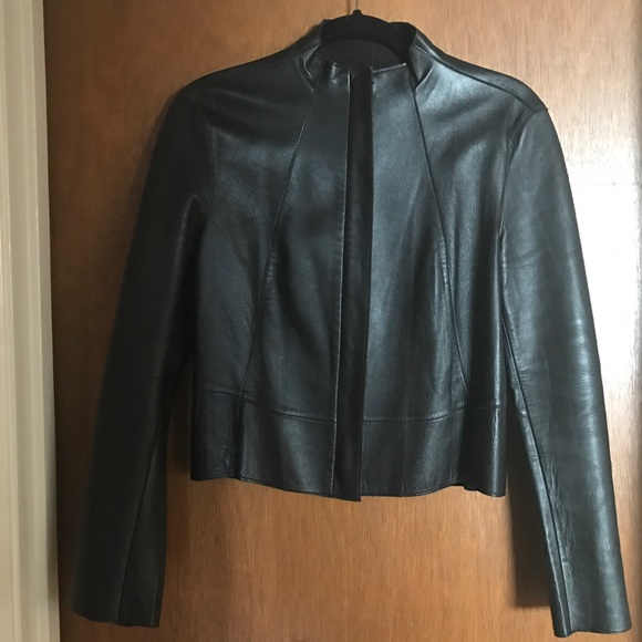a1600416c9ed donna karan Jackets   Blazers - Donna Karan Signature Lambskin Leather  Jacket