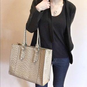 Merona faux leather tote handbag
