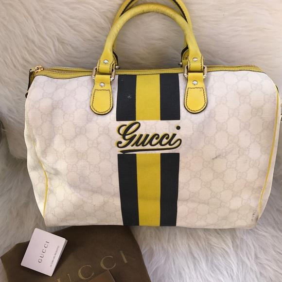 14c5a33186ff Gucci Bags   Pvc Gg Monogram Joy Boston Bag Speedy   Poshmark
