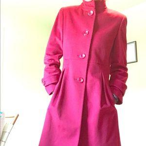 Kristen Blake red coat (color of the season!)