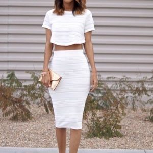 Torn by Ronny Kobo Dresses & Skirts - Torn by Ronny Kobo Lena XS crop top midi skirt
