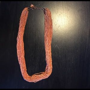 Jewelry - Multi chain rose gold-color necklace