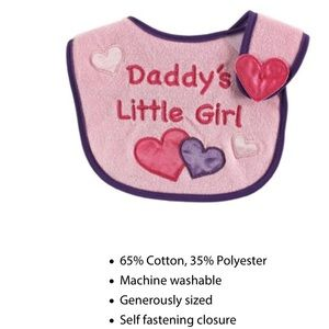 Luvable Friends Other - Daddy's girl bib NWT 👶👶