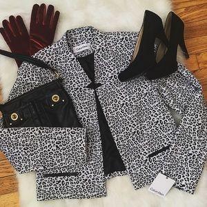 Calvin Klein Jackets & Blazers - SALE!! Calvin Klein Cheetah Print Blazer, Size 8