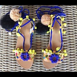 Catherine Malandrino Shoes - Catherine Malindrino Pom sandals.Love these cuties
