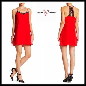 Boutique Dresses & Skirts - ❗1-HOUR SALE❗SLIP DRESS Crochet Lace Detail