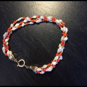 Jewelry - Coral and freshwater pearl necklace