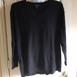 august silk Tops - August silk black sweater