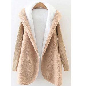 Camel Faux Shearling Jacket