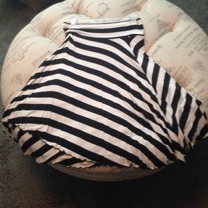 Express black and white striped skirt size XS