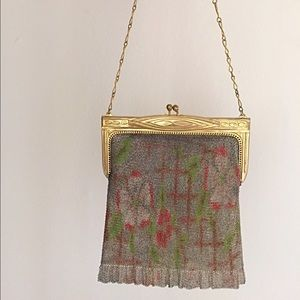 Vintage Handbags - 1920s Whiting & Davis Dresden Bag/Water color Mesh