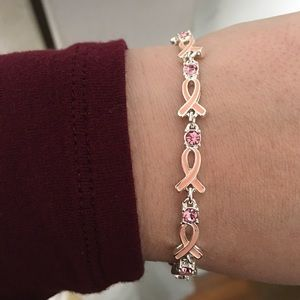 Breast Cancer Tennis Bracelet