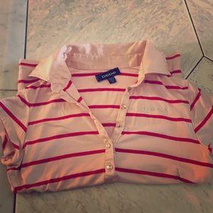 bebe Tops - Bebe striped collared blouse (short sleeves )