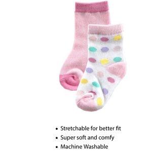 Luvable Friends Other - 2 pk novelty dot socks NWT 👶👶