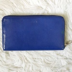 Furla Handbags - Blue Furla Patent Leather Wallet