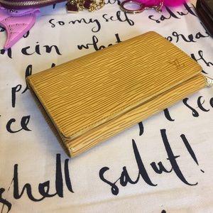  authentic Louis Vuitton yellow Epi wallet 