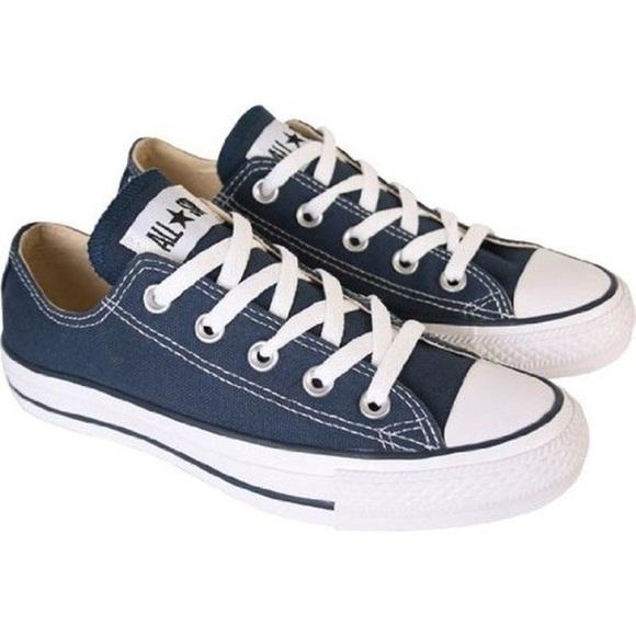 converse shoes navy blue