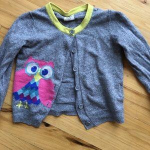 Boden owl cardigan
