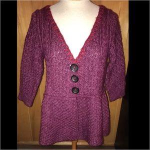 Free People Wool Blend Cardigan Sweater Sz L